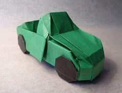 Convertible 3.3 (mrmicawer) Tags: papiroflexia origami papel convertible coche car deportivo automóvil vehículo ruedas