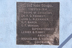 Globe High School Cornerstone (Globe, Arizona) (cmh2315fl) Tags: historicschool historicbuilding globehighschool globe gilacounty arizona