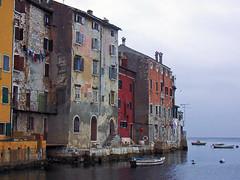 Rovinj scene (Vid Pogacnik) Tags: hrvatska croatia rovinj istra istria town sea house old boat