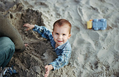 henry at play, part five (manyfires) Tags: nikonf100 35mm analog film boy son toddler henry family love child portrait peoplescape play fun sand beach oregon oregoncoast cihldhood