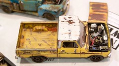 Of all the weathered vehicles, my favorite is this one AND the blue one, by Chris Norgaar, North State Scale Modelers  DSC_0285 (wbaiv) Tags: nnl west 2019 model car show santa clara convention center scale cars automobiles motor vehicles street truck weathered rusted paintheaven colors perfect wellused dented dinged note modern transplant clean wheels aggressive tires wonderful rust faded paint chris norgaar north state modelers