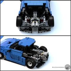 80's Supercar engine - Miniland scale - Lego (Sir.Manperson) Tags: lego moc 80s retro ldd render miniland