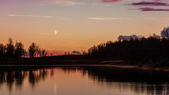 At twilight.jpg (tods_photo) Tags: landscape water moon sunset colours sky clouds twilight