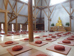 Temple interior (seikinsou) Tags: amaravati england meditation retreat retreatcentre temple interior cushion mat architecture summer midsummer