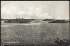 Postkort fra Agder (Avtrykket) Tags: fyr fyrtårn holme postkort øy arendal austagder norway nor