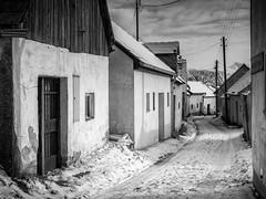 Pillichsdorf, Kellergasse mit Schnee (fritz polesny) Tags: canon6d 24105mm pillichsdorf niederösterreich winter kellergasse cellar lane landscape weinkeller winecellars snow