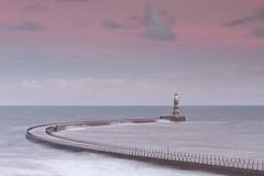 Roker Pier Sunset (RichRobson) Tags: pier sunset pastel sky northeast coast roker red
