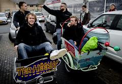 Mark en Rámon in de bakfiets (3FM) Tags: 3fm sr18 3fmseriousrequest lifeline 2018 fotosanderkoning ramonverkoeijen markvandermolen markramon duiven nederland bakfiets