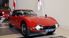 Toyota 2000GT 1968 (XBXG) Tags: 81nl87 toyota 2000gt 1968 toyota2000gt 2000 gt coupé coupe red rood rouge louwman museum leidsestraatweg den haag denhaag nederland holland netherlands paysbas musée automobile vintage old classic japanese car auto voiture ancienne japonaise japon japan asiatique asian vehicle indoor