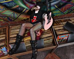† M 36 † (BillitaUnderZone) Tags: sqdesign taketomi hair outfit girl virtual secondlife sl blogger post avatar mesh maitreya rock rolling