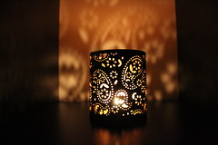 Share the light (Argyro Poursanidou) Tags: light night candle decoration pot golden black shadow