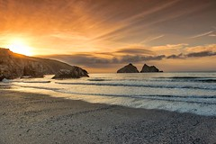 Holywell Bay (The Original Happy Snapper) Tags: beach hdr cornwall sea sand clouds sunset