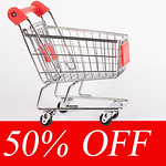 Shopping cart and fifty percent discount thumbnail