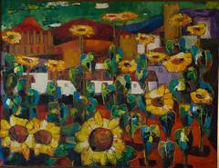 Camp de gira-sols a Montblanc (amadeuroca) Tags: pintura montblanc muralles girasols palauferré oli paint painting