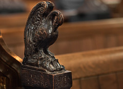 I become like a Pelican (4 of 5) (+Pattycake+) Tags: wortham stmarys suffolk pewends pew carvings wood interior church