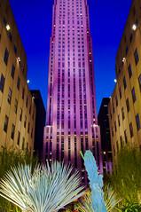 Rockefeller Center, NYC (Bokeh & Travel) Tags: rockefellercenter nyc newyork newyorkcity ny manhattan fifthavenue topoftherock skyscraper nightimage nightlights city architecture artdeco beautiful colorful united states america usa midtown rockefeller center pov 48thstreet 51ststreet building