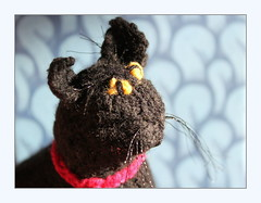 sometimes I knit a cat (overthemoon) Tags: knitting hobby cat black tricot chat macromondays passetemps frame