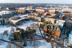 2019 - January - CHS - Snowy Winter Break Sunday-122-HDR.jpg (ISU College of Human Sciences) Tags: building winter forker campus buildings foodsciencebuilding morrill snow lagomarcino ringoflife drone campanile scenic palmer fshn chs mackay beauty