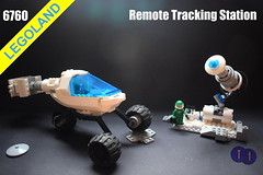 6760 Remote Tracking Station and Supply Rover (Harding Co.) Tags: lego space scifi classic future futuron rover buggy supply station track tracking remote antenna science scene scientist minifigure minifigures lunar exploration white blue grey black base research