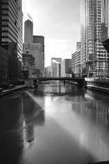 JJN_0776 (James J. Novotny) Tags: bridge ice water d750 nikon chicago downtown unlimitedphotos bw blackandwhite