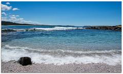 Bush Beach (Bear Dale) Tags: bush beach blue aqua torquise clouds bluesky waves shell grit sand rocks rock pools lobsters crayfish fish ulladulla southcoast new south wales shoalhaven australia beardale lakeconjola fotoworx milton nsw nikond850 photography framed nature sea seashore saltwater surf d850 nikon nikkor afs 1424mm f28g ed if