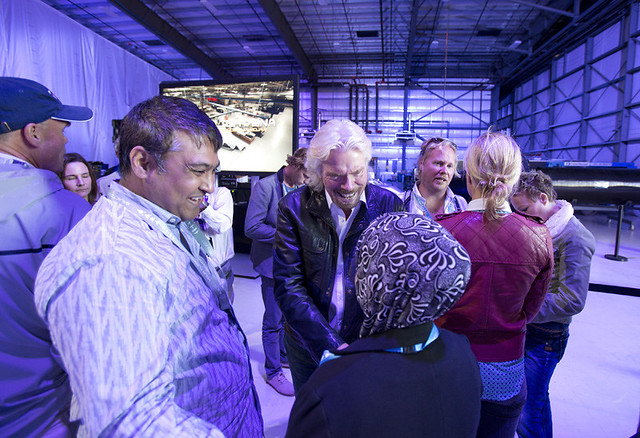 Virgin Galactic Pictures with Sir Richard Branson