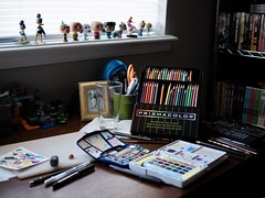 Jeremiah's desk (lauriebeth08) Tags: desk artist studio