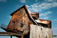 Home Sweet Home (MilkaWay) Tags: usa america georgia hallcounty simpsonfarm junkyard toyhouse birdhouse rusted rust corrosion abandoned forgotten junk bluesky rustandblue