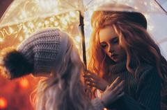under umbrella III (AzureFantoccini) Tags: bjd abjd doll umbrella autumn outdoor street balljointeddoll supia supiadoll jiin granado ozin5 emon portrait bokeh romance