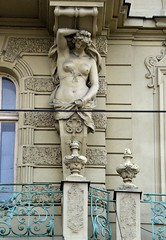 Prager Fassadendetails - 20 (fotomänni) Tags: prag prague praha jugendstil fassadenfiguren skulptur skulpturen sculpture kunst art manfredweis