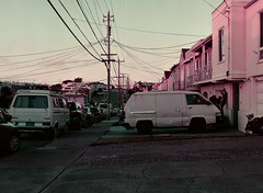 Sunset District // San Francisco (bior) Tags: pentax645nii pentax645 pentax 645 mediumformat 120 sanfrancisco sunsetdistrict lomography lomochromepurple lomochrome purple car microbus toyota volkswagen vanagon westfalia transporter type2 t3