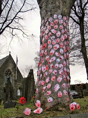 ARMISTICE DAY == Remembrance Day Poppies in the shape of children's hands on a tree at St. Thomas Churchyard, Musbury, Helmshore (rossendale2016) Tags: trunk oak veterans religious respect armistice legion british picturesque photogenic lancashire rossendale road airmen navy army brave wars all end one worldwar france germany country king killed died dead sacrifice ultimate churchyard graveyard graves tree childrens shape poppies church helmshore musbury thomas saint st day remembrance