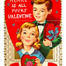 Vintage Child's Valentine Card - My Heart Is All Yours Valentine, Made In USA, Circa 1940s
