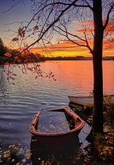 """""""Please take care of me!"""" (Vest der ute) Tags: xt20 norway rogaland karmøy vormedal water waterscape landscape lake sunrise reflections boat boats trees tree leaves autumn earlymorning sky clouds fav25 fav200"""