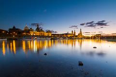 Dresden - Blue hour (world.wideweg) Tags: dresden germany saxony sachsen stadt urban gebäude bluehour blauestunde illumination beleuchtung spiegelung elbe fluss wasser river langzeitbelichtung longexposuretime