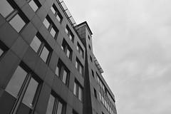 Dystopian Empire (Robin Shepperson) Tags: monochrome dark sinister building blackandwhite grey berlin germany windows tiles city d3400 nikon scifi clouds cloudy glass domineering