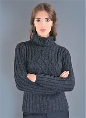 Sexy women in turtleneck (Mytwist) Tags: sweatergirl sexy knitwear outfit cozy bulky sweet chunky warm soft vintage woman female winter turtleneck tneck tn wool design style fisherman fashion passion retro vouge crisscross criss cross polo charcoal