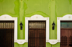 three of a kind (Sam Scholes) Tags: colorful building travel doors puertorico architecture green vacation windows color sanjuan