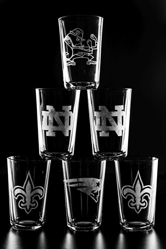 081 Football Glasses Set