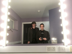 Chris Conway & Dan Britton @ The Stables - we're not used to fancy dressingrooms :-) (unclechristo) Tags: chrisconway danbritton thestables