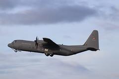 Royal Danish AF Lockheed C-130J-30 Hercules B-537, departure CBG (robertetienne) Tags: lockheed c130 hercules cambridgeairport royaldanishairforce b537 airplanes aircraft propellers military aviation