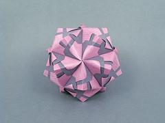 Byblis (masha_losk) Tags: kusudama кусудама origamiwork origamiart foliage origami paper paperfolding modularorigami unitorigami модульноеоригами оригами бумага folded symmetry design handmade art