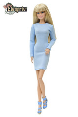 My sweetheart! (elenpriv) Tags: barbie pivotal doll mattel blue minidress elenpriv elenprivfashionacademy elena peredreeva handmade clothes dollclothes collection