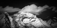 Ice and snow (Rico the noob) Tags: 2018 rock z6 landscape comerge nature switzerland outdoor clouds published bw blackandwhite zermatt monochrome schweiz mountains dof 2470mmf4 sky rocks 2470mm snow mountain
