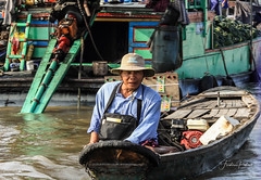 Floating market (fredericpecheux) Tags: floating market vietnam mekong asia man river boat canon happyplanet asiafavorites