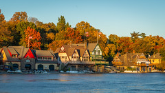 Autumn in Phillytown ~ (PhillymanPete) Tags: autumn houses color sunset nature water schuylkillriver city fall philadelphia leaves urban river philly sky westriverdrive foliage boathouserow landscape pennsylvania unitedstates us nikon d800e vesper malta