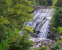Mill Creek Falls (tquist24) Tags: cataractfallsofmillcreek millcreek millcreekfalls nikon nikond5300 ohio outdoor cliff geotagged longexposure nature river rocks tree trees water waterfall