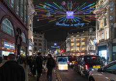 Oxford Street Christmas Decorations (Rambo2100) Tags: london england oxfordstreet christmas decorations oxfordcircus rambo2100 retail christmasiscalling night