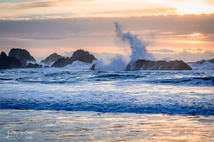 Seal Rocks, Oregon (pacificrain) Tags: sealrocks sealrock oregoncoast oregon pacificocean sunset sun beach waves water sky surf rocks