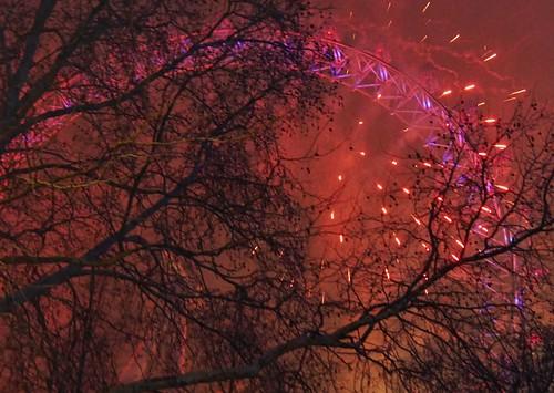 2019 London NYE - Fire and night
